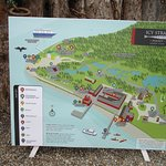 Ice Straight Point - sign board of landmarks in town
