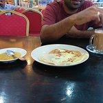Roti Canai Telur, Tea with Condensed Milk