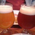 Bières blonde et ambrée de la brasserie