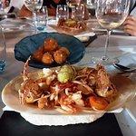 Ensalada con cangrejo de caparazón blando
