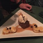 Rum Sautéed Bananas With Banana Cake and Rum & Raisin Ice Cream