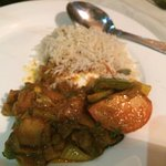 My curry. Looked nice enough, but was pretty bland, lacked depth