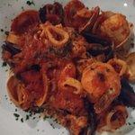 Zuppe di Pesce. Squid, clams, shrimp. Sooo gooood!