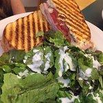 Cubano Sandwich with side salad