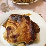 Moussaka and green beans