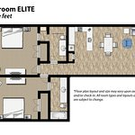 2 Bedroom Floor Plan Elite