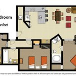 2 Bedroom Floor Plan Deluxe