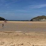 Porth Beach tide out