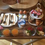 A great fresh breakfast delivered each day to your room!