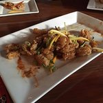 Excellent sweet and sour calamari appetizer