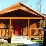 here is a photo of our cabin. it is great! with a screened in porch