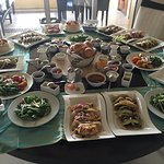 Room service dinner- It was fabulous-