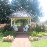 Gazebo near the coffee shop and historic house
