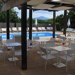 Poolside Mt Vesuvius view