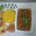 Lovely lamb curry. As Wednesdays are now curry night,  the choice was, lamb, beef,chicken korma,