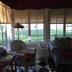Beautiful sun room. Note the cup cake tray on the right. There is another one upstairs. YUMM!!!