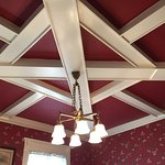 Detail of ceiling in the dining area. Amazing craftsmanship.