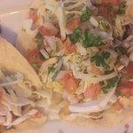 Kids menu, fish tacos
