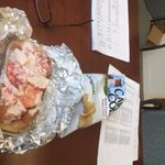 James Hook Lobstah Roll for lunch at my desk.