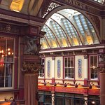 View of the Leadenhall Market from our window on the 2nd floor (dining room)