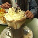 Hot chocolate with cream & marshmallows