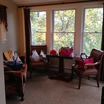 This was the sitting area off of the bedroom overlooking the river.