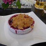 """Crumble aux prunes """"made in jardins fruitiers de Laquenexy"""" !"""