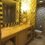 Large, comfortable bathroom with large shower and tub also.