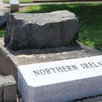 Marker for each place men were sent & a stone from that nation
