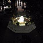 Hotel Mazarin Courtyard at night