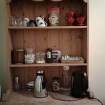 Coffee, tea and cocoa available just outside bedrooms