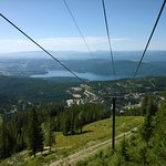 View going down the chairlift