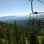 Bikes getting a ride up the llift