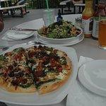 Greek Pizza, Kale Super Food Salad and Blonde Ale.