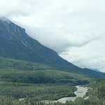 Matanuska River Valley - you can see the road ahead winding along the riverbank