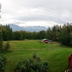 The beautiful scenery at Alaska's Harvest B & B.