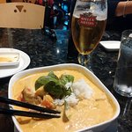 Thai red curry chicken - yum!