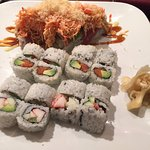 California Roll, Spicy Tuna Roll & Cherry Blossom Roll
