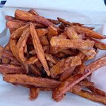 The sweet potato fries were shared