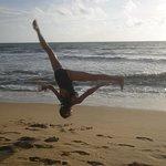 The Beach and more acrobatics....
