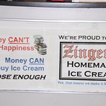 Foto de Zinger's Homemade Ice Cream
