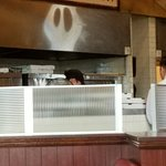 Ghost on the pizza oven?
