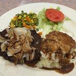 Hamburger Steak w/ Mashed Potato (August 2016)