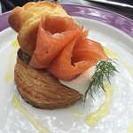 Smoked trout vol au vent