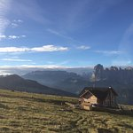returning to the rifugio from Raschötz in the morning