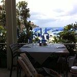 Dal ristorante, vista sulla spiaggia