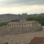 la cité de Carcassonne vue de la chambre
