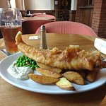 Fish and chips (special promotion as well on a Friday).