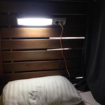 reading light and power outlet in my bunk