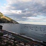 towards the harbor of Positano from terrace